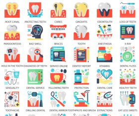 Perfect flat icons – Dental Care
