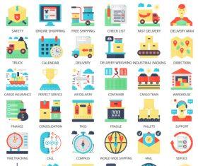 Perfect flat icons – Logistics