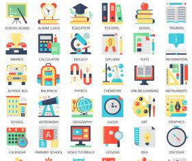 Perfect flat icons – School