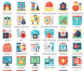 Perfect flat icons – Securiti