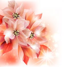 Pink flower background abstract vector 01
