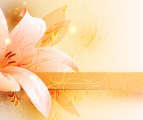 Pink flower background abstract vector 02