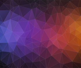 Polygonal geometric shapes abstract vector background 01