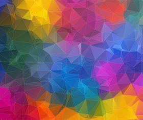 Polygonal geometric shapes abstract vector background 02