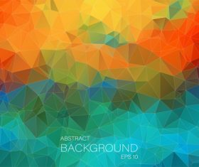Polygonal geometric shapes abstract vector background 03