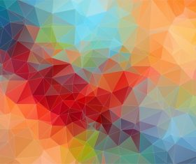 Polygonal geometric shapes abstract vector background 04