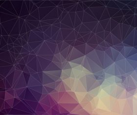 Polygonal geometric shapes abstract vector background 05