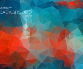 Polygonal geometric shapes abstract vector background 09
