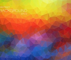 Polygonal geometric shapes abstract vector background 10