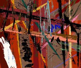 Pop graffiti elements background design vector 02