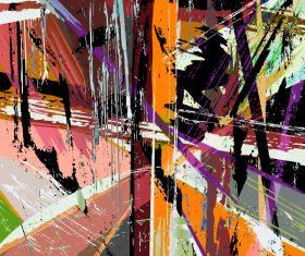 Pop graffiti elements background design vector 03