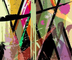 Pop graffiti elements background design vector 04