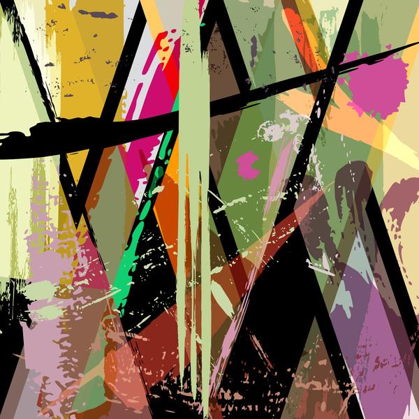 Pop graffiti elements background design vector 04 free download