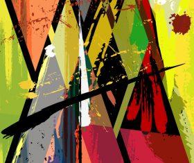 Pop graffiti elements background design vector 05