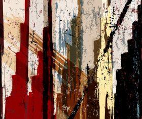 Pop graffiti elements background design vector 06