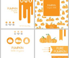 Pumpkin package box template vector