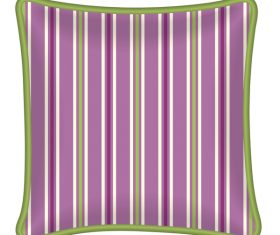 Purple stirpe pillow template vector
