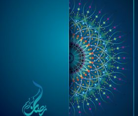 Ramadan Kareem banner background template vector
