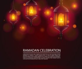 Ramadan Kareem greeting blurs background vector
