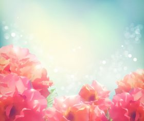 Realistic flower with blurs background vector