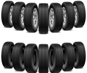 Realistic vehicle tires illustration vector 04