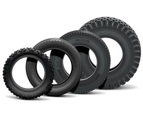 Realistic vehicle tires illustration vector 05