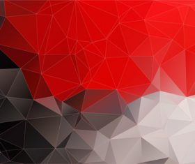 Red with black geometric shapes abstract vector background