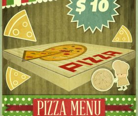Retro food menu cover vector 1