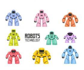 Robots technology vector illustration