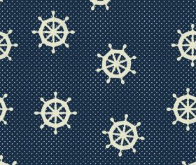 Rudder seamless pattern vintage vector 01