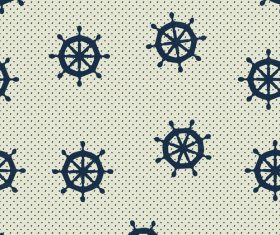 Rudder seamless pattern vintage vector 02