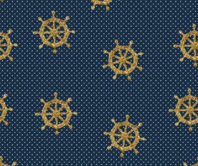 Rudder seamless pattern vintage vector 03