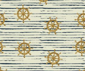Rudder seamless pattern vintage vector 06
