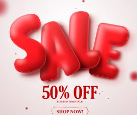 Sale text design with blurs background vector