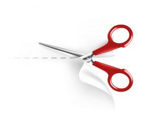 Scissors with paper vector 01