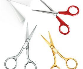 Scissors with paper vector 03