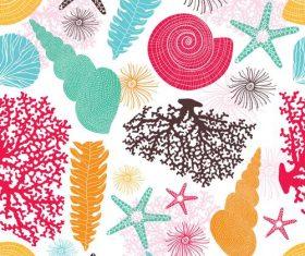 Sea seamless pattern vectors design 01