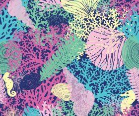 Sea seamless pattern vectors design 02