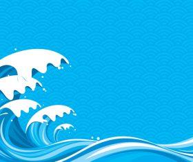 Sea wavy background design vector 01
