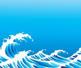 Sea wavy background design vector 02