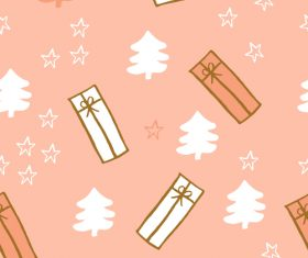 Seamless pattern christmas hand drawn vector 02