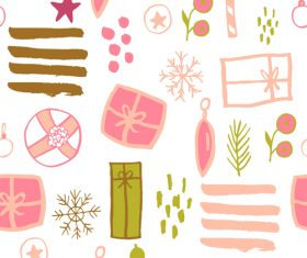 Seamless pattern christmas hand drawn vector 05