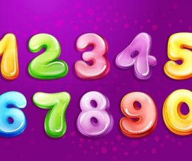 Shiny cartoon number vector design
