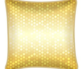 Shiny gold pattern with pillow template vector