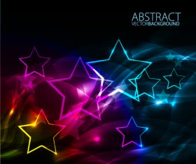 Shiny star with abstract background vectors material