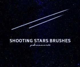Shooting Stars Photoshop Brushes