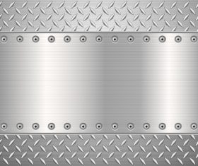 Silver metal background vectors material