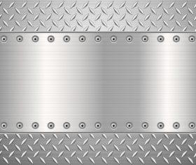 Silver metal background vectors material