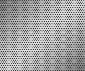 Silver metal background with hole vector 01