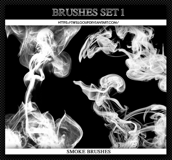 Smoke Abstract Photoshop Brushes